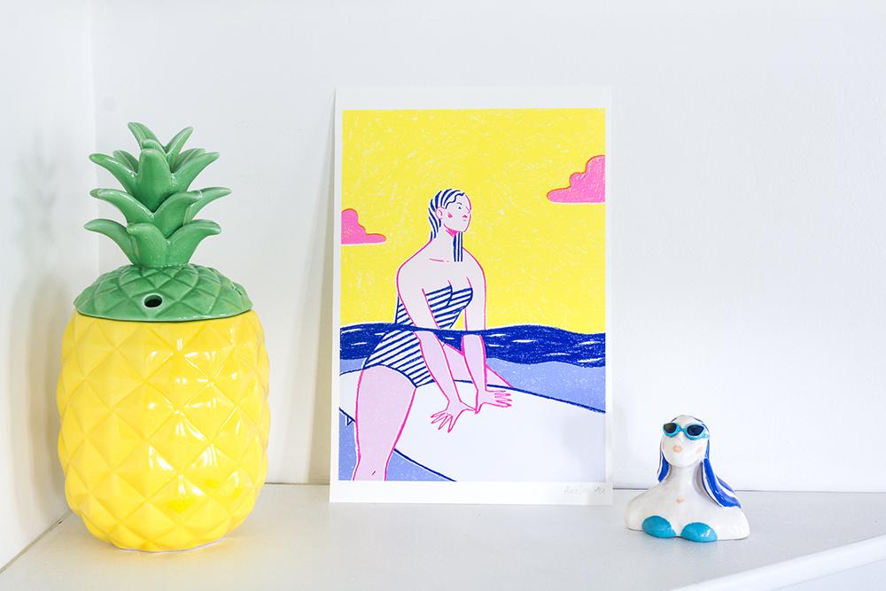 Alice Des – Le Surf – Print