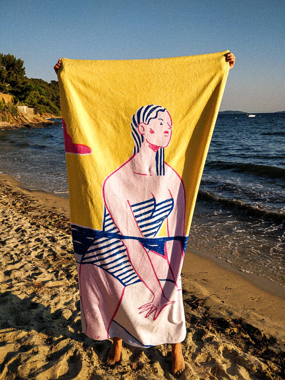 Alice Des – Le Surf – Beach Towel 6