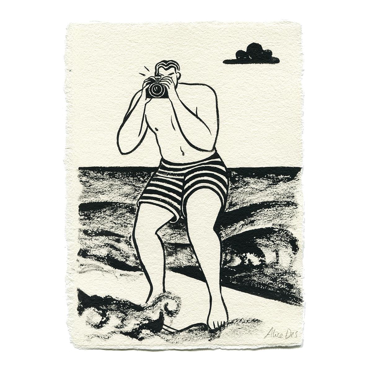 Inktober – La Photo du Surfer – Alice Des