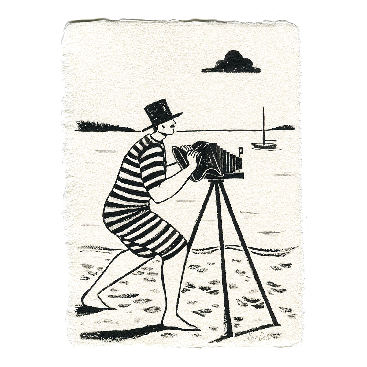 Inktober – Le Photographe – Alice Des