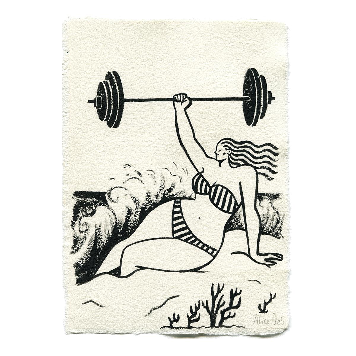 Inktober – La Femme Musclee – Alice Des