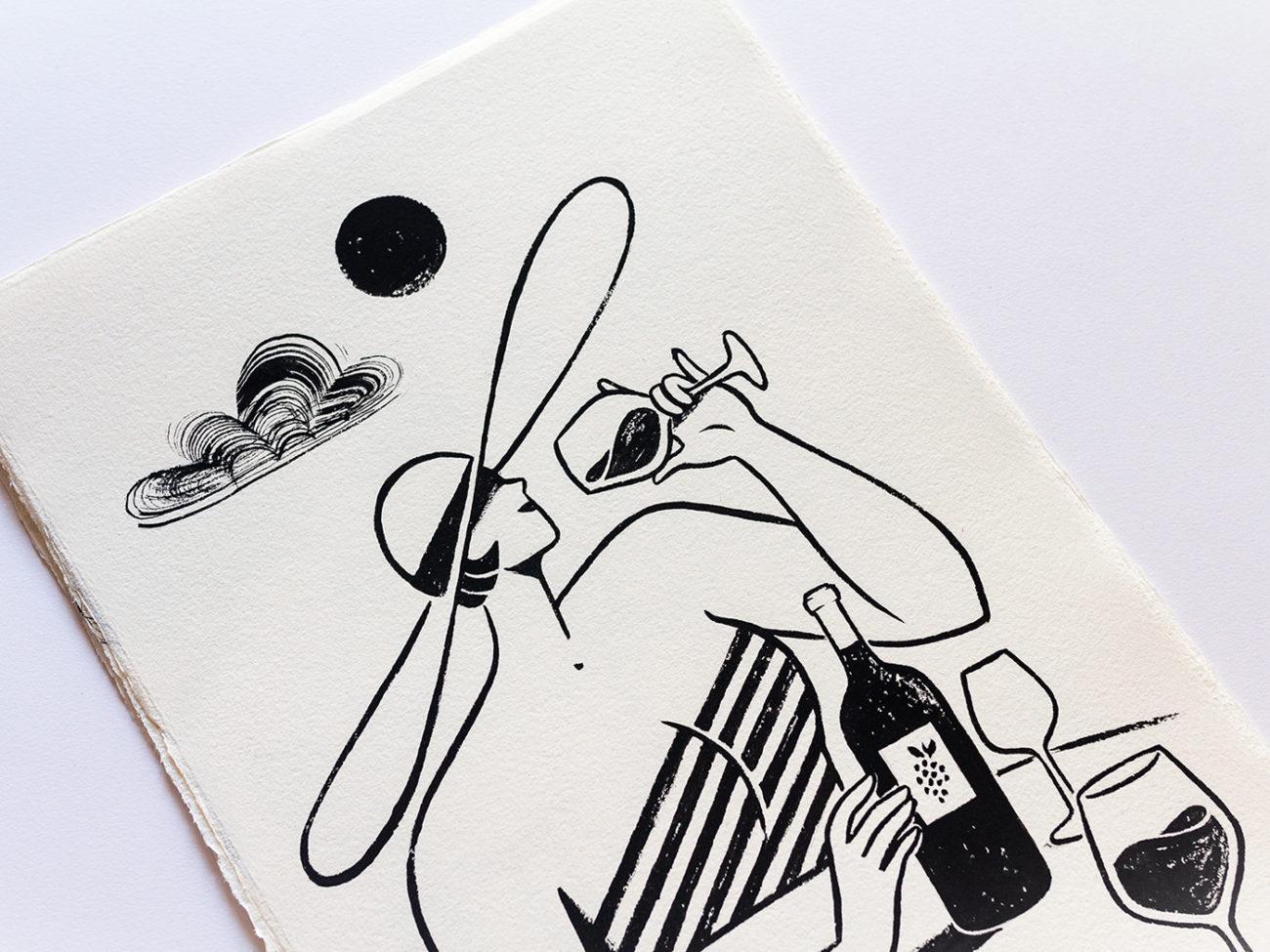 Alice Des – Les Echos – Gouache 2